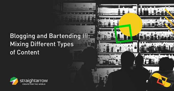 Blogging and Bartending 3  Mixing Diferrent Types of Content