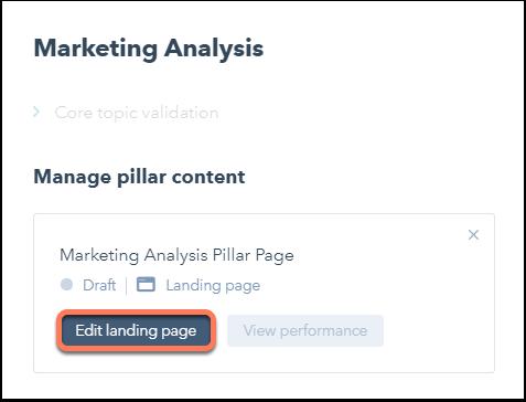 manage pillar content