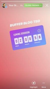 Instagram Brand Sticker Countdown 1