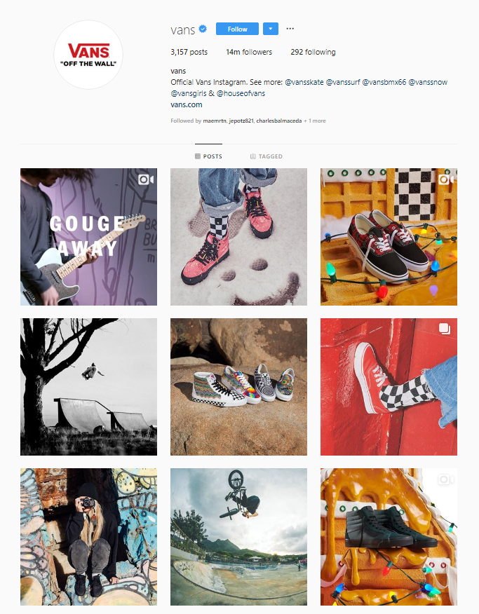 Vans Instragam Account
